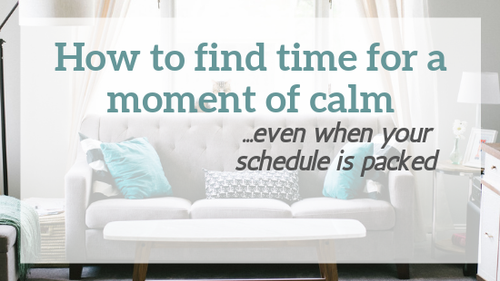 how to calm