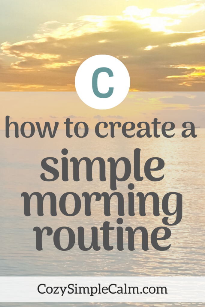simple morning routine