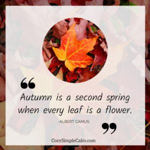 """Autumn is a second spring when every leaf is a flower. "" – Albert Camus"