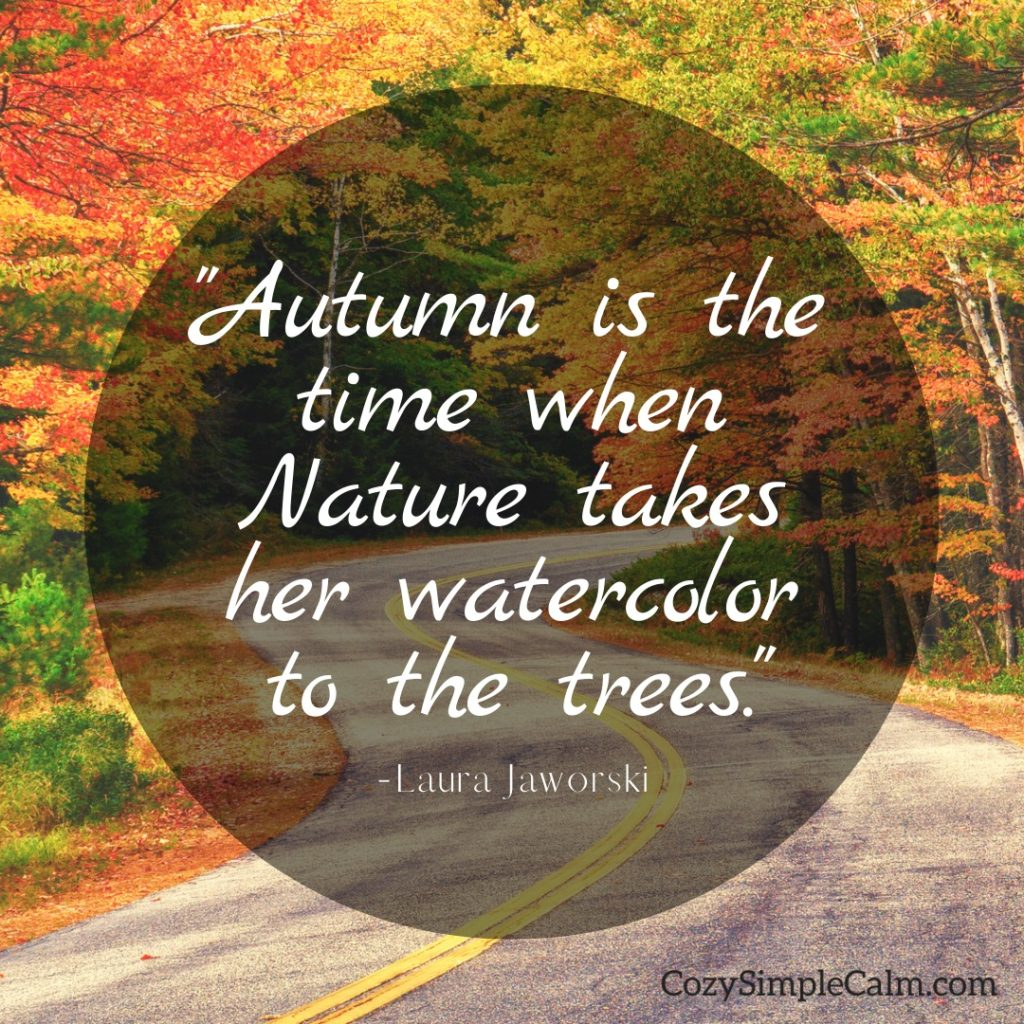 """""""Autumn is the time when Nature takes her watercolor to the trees."""" ― Laura Jaworski"""