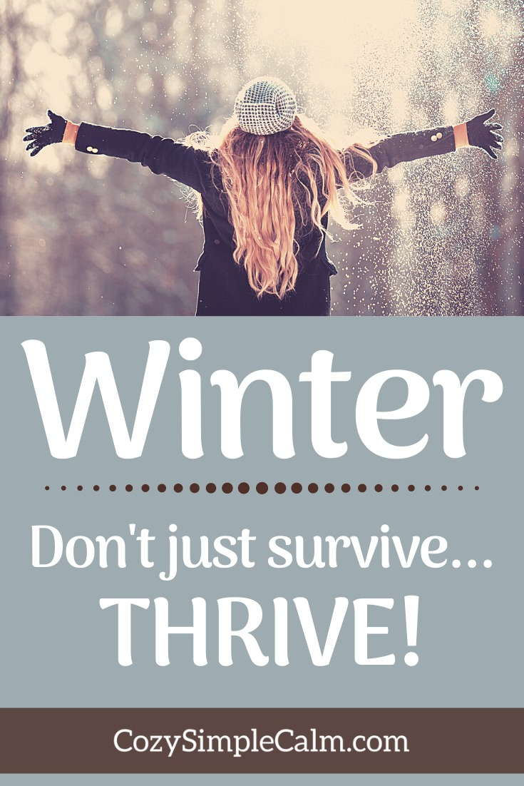 Pinterest pin - Winter. Don't just survive...thrive